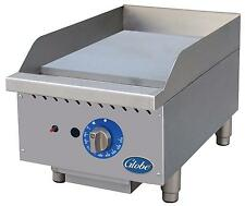 """Globe Gg15G 15"""" Counter Top Natural Gas Griddle with Manual Controls"""
