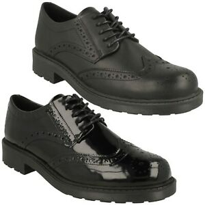 LADIES CLARKS ORINOCO2 LIMIT LEATHER CASUAL CHUNKY CLEATED BROGUE LACE UP SHOES