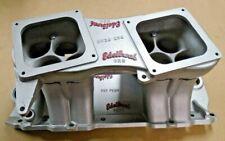 EDELBROCK TR2X UR2 BB CHEVY TUNNEL RAM INTAKE MANIFOLD GASSER PRO STOCK S/S 454