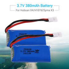 2Pcs 3.7V 380mAh Lithium Battery For Hubsan X4 H107d Syma X3/MJX F47 6057 Drone