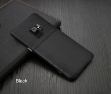 Luxury Slim Hybrid Hard Leather Back Case Cover Fits Samsung Galaxy S8 & S9 Plus