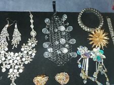 Vintage estate costume rhinestone jewelry lot