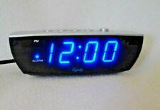 Equity  Digital Alarm Clock Blue LED Display Electric w Battery Backup