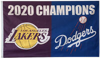 Los Angeles Champions 2020 Lakers Dodgers Flag 3x5ft Banner