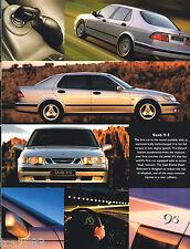 1998 SAAB 900 Brochure / Catalog: 9-3,9-5, CONVERTIBLE,TURBO,SE