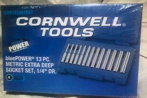 "Cornwell Tools CBP1XLM13ST, 13 PC. Metric Extra Deep Socket Set 1/4"" Drive"