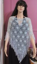 Crocheted LIGHT GREEN Top with Fringes