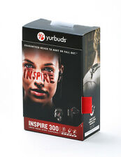 Yurbuds Inspire 300 In-Ear Buds Headphones w/Quikclik Never Fall Out Black NEW