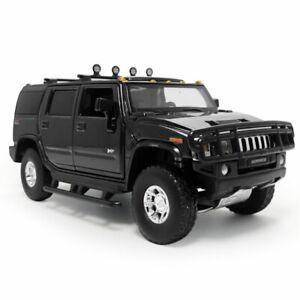 1:32 2005 Hummer H2 SUV Model Car Diecast Toy Vehicle Kids Gift Sound Black