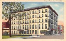 ROCK ISLAND, IL Illinois    HARPER HOUSE~Interstate Liquors   c1940's Postcard
