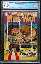 ALL-AMERICAN MEN OF WAR #67 1959 CGC 7.0  KEY BOOK 1ST APPEARANCE GUNNER+SARGE