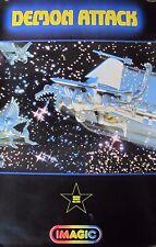 Original 1982 DEMON ATTACK Video Game Promo Poster IMAGIC Atari 2600 printed USA