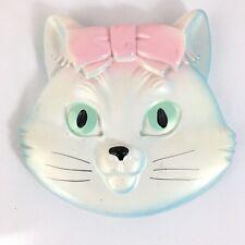 Vintage Miller Studio Chalkware Girl Cat Kitten Face Head 1974 Chalk Ware Wall