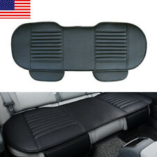 Breathable Car Seat Cover PU Leather Pad Mat for Rear Back Chair Cushion Black