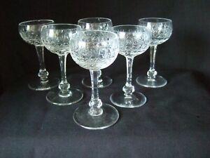 6 x  Lead Crystal Cut Glass 9cm Liqueur  Glasses  (CL1)