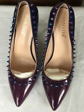 New  Size 10. Women's High Heels  with4.75 Heel. Colour Purple /Blue With Spike