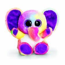 KORIMCO ANIMOTSU KEEL TOYS BEANIE 15CM RAINBOW ELEPHANT CALLED SPARKLE  BNWT