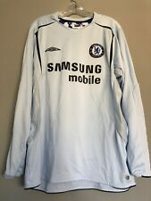 Chelsea FC Umbro Long Sleeve Kit Jersey Shirt Premier League Lampard Soccer