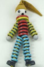 Vintage Czech Crib Toy '70s Clown Figure Marionette Harlequin Doll Plastic Beads