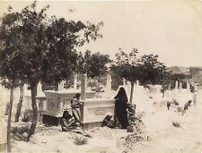 Cimetière musulman Algréie Tunisie Vintage albumine ca 1880