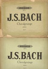 Bach, CHORALGESANGE music for piano and voice, 2 volumes, 230 pages