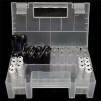 Hard Plastic Case Holder Storage Box Cover for Rechargeable AA AAA Battery CGX