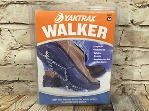 NEW YAKTRAX Walker Shoe Traction Device Snow Ice Winter M 9-11 W 10.5-12.5 Adult