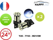 2 X AMPOULES FEUX DE JOUR LED BLANC ® T20 7743 W21/5W DACIA OPEL PEUGEOT NISSAN