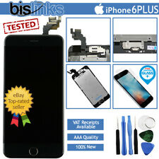 "Black iPhone 6+ 6 Plus 5.5"" Replacement LCD Digitizer Touch Home Button Camera"