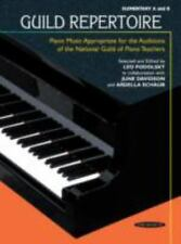 Guild Repertoire - Piano Music Appropriate for the Auditions of the National Gui