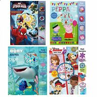 Busy Pack Colour Activity Sets Figure Stickers Colouring Book Creative Movie TV
