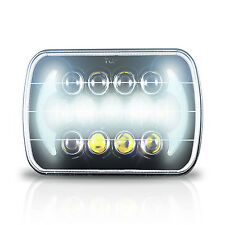"7X6"" Black LED DOT HID Light Bulbs Clear Sealed Beam Headlamp Headlight (1 Lamp)"