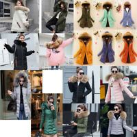 Womens Ladies Coats Fur Collar Hooded Coat Jacket Winter Warm Down Cotton New