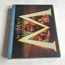 The Mummy Trilogy Blu-Ray Steelbook [Spain] Region Free! RARE! ONLY ONE ON EBAY!