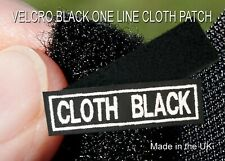 VELCRO BLACK CLOTH 1 LINE PERSONALISED NAME PATCHES TAG BIKER PATCH