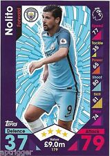 2016 / 2017 EPL Match Attax Base Card (179) NOLITO Manchester City