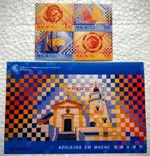 Macau 1998 Tiles in Macau 4v Stamps + Souvenir Sheet Mint NH