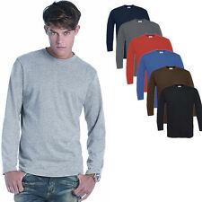 B&C Herren Langarm Longsleeve T-Shirt verschiedene Farben und Größen S - 3XL
