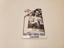 RS20 Springfield Fame 1986 USBL Basketball Pocket Schedule - Coors
