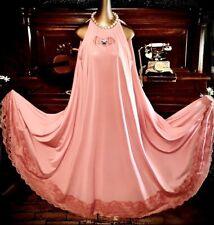 "Vintage Bling Muumuu Jewel Antique Lace 180"" Sweep Nightie Lounge Gown 1X 2X"