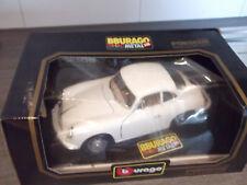 Bburago Porsche 356 B Coupe  Bj.1962 1:18 weiß code 3021 Vitrinenmodell