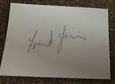 Actor Frank Jarvis (Dr WHO) Signed Card