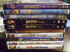 (13) Childrens Adventure DVD Lot: Disney Cars (2) Harry Potter  E.T. Sinbad MORE