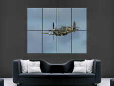 SPITFIRE AEROPLANE  GIANT WALL POSTER ART PICTURE PRINT LARGE HUGE