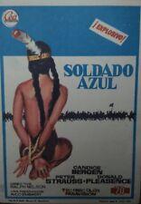 Programa de CINE. Título película: SOLDADO AZUL. Reverso CINE HESPERIDES GUIA.