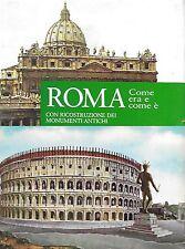 ROMA COME ERA RICOSTRUZIONE MONUMENTI ANTICHI 1962