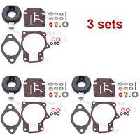 3 Carburetor Rebuild Repair Kit For Johnson Evinrude 384412 384413 390134 387856