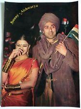 Rare Bollywood Actor Poster - Sunny Deol - Aishwarya Rai - 12 inch X 16 inch