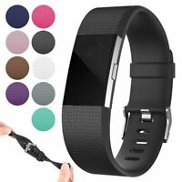 Silicone Bracelet Wrist Watch Band Strap For Fitbit Charge 2 / 2 HR Replacement