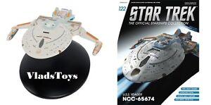 Eaglemoss Star Trek USS Yeager NCC-65674 Starship #122 w/Magazine